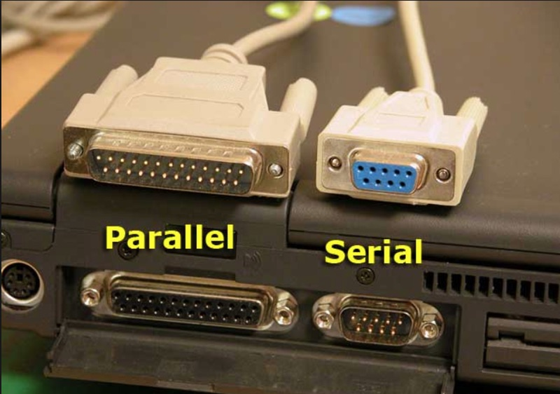 Serial port vs parallel port